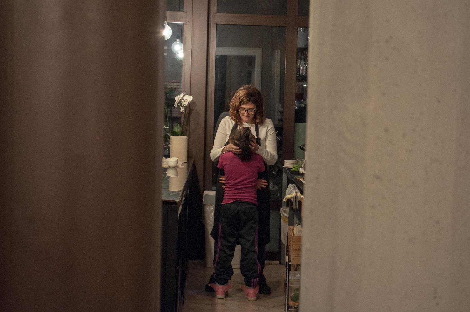 Ombretta gets a hug