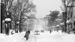A snowy Wisconsin Avenue.