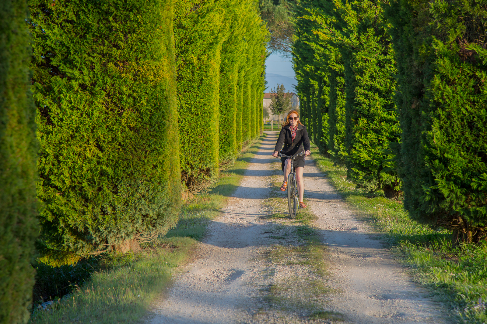 Riding a bike in Umbria